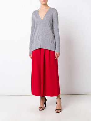 Wool Silk Cashmere Open Back Sweater