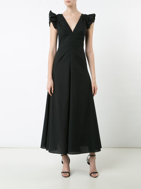 Long V-Neck Dress