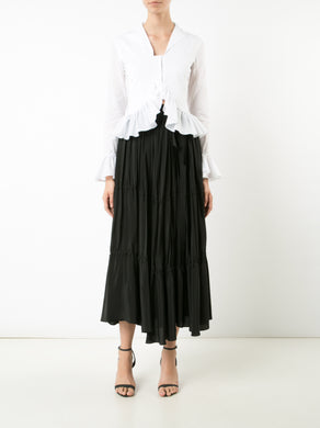 Tiered Wrap Skirt