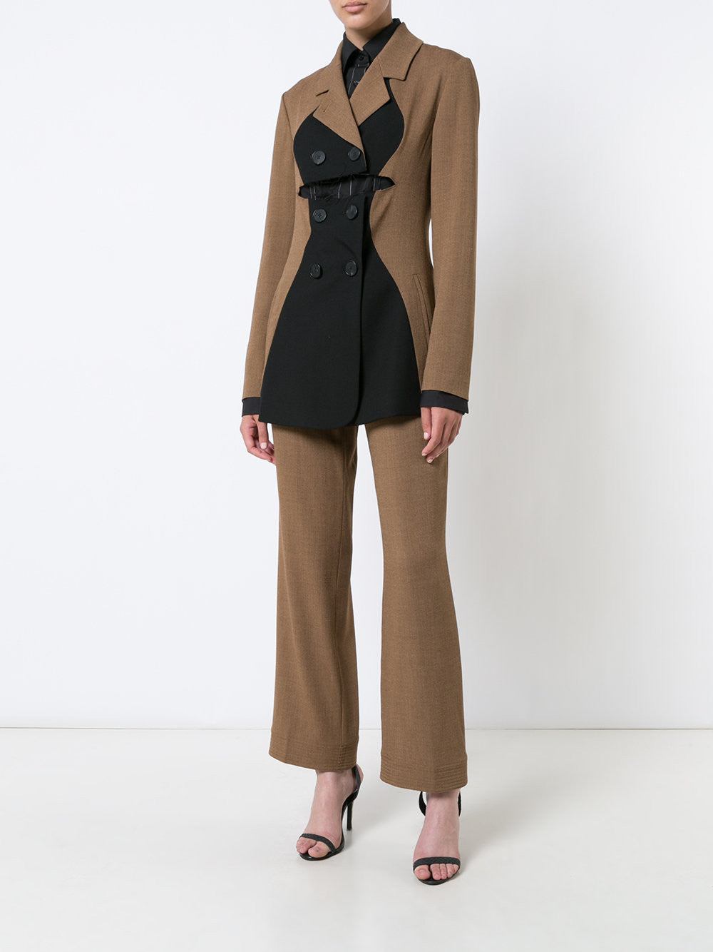 Wool Tweed Tailored Pants