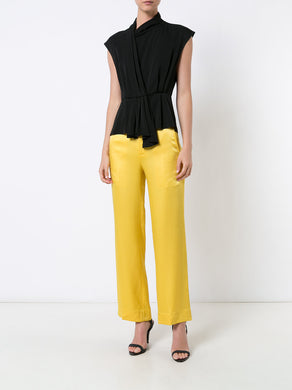 Satin Cady Tailored Pants