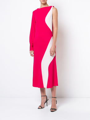 Colour Block One-Sleeve Dress
