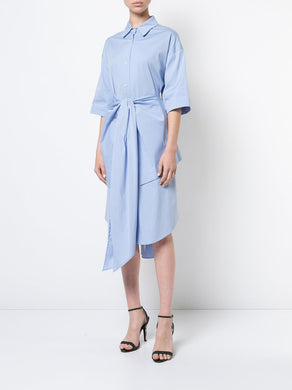 Cropped Open Back Shirtdress