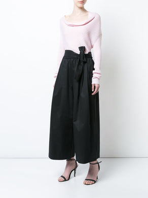 Drape Neck Rib Knit