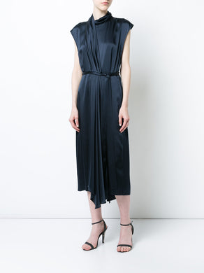 Pleated Sash Dress