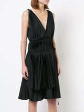Grecian Pleated Cotton Dress