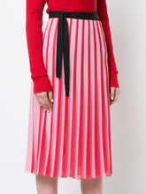 Pleated Georgette Wrap Skirt