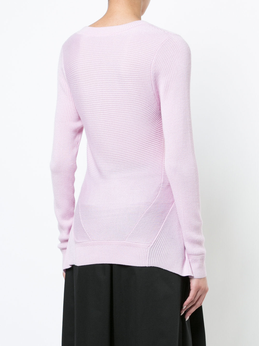 14e802ae72b2ad Long Sleeved Crew Neck Ribbed Knit Top – tomenyc