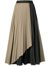 Pleated Contrast Wrap Skirt