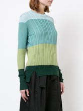 Color Block Crew Neck Knit