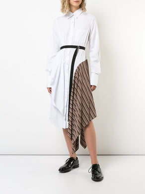 Shirtdress with Stripe Inset