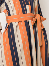 Stripe SJP V Neck Dress