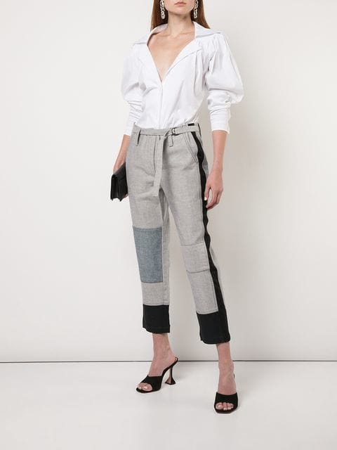 Cropped Patchwork Pant