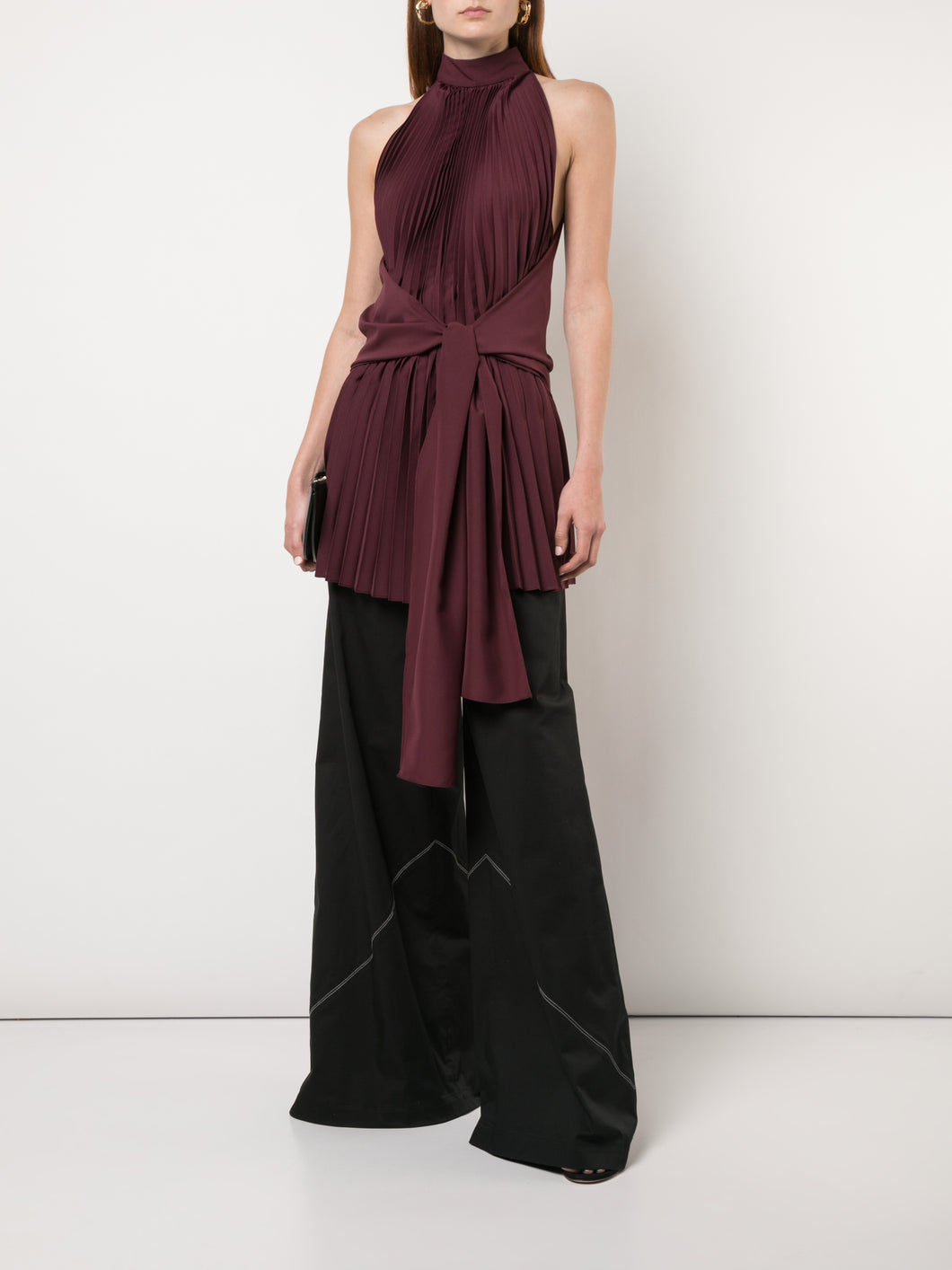 Draped Halter With Pleating