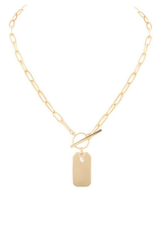 Prep Tag Pendant Necklace (2 Colors!)