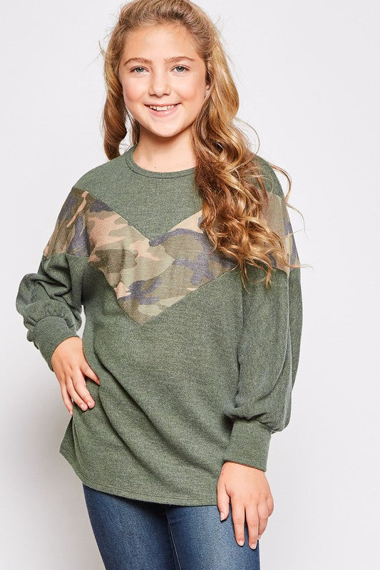 Dre Camo Top KIDS