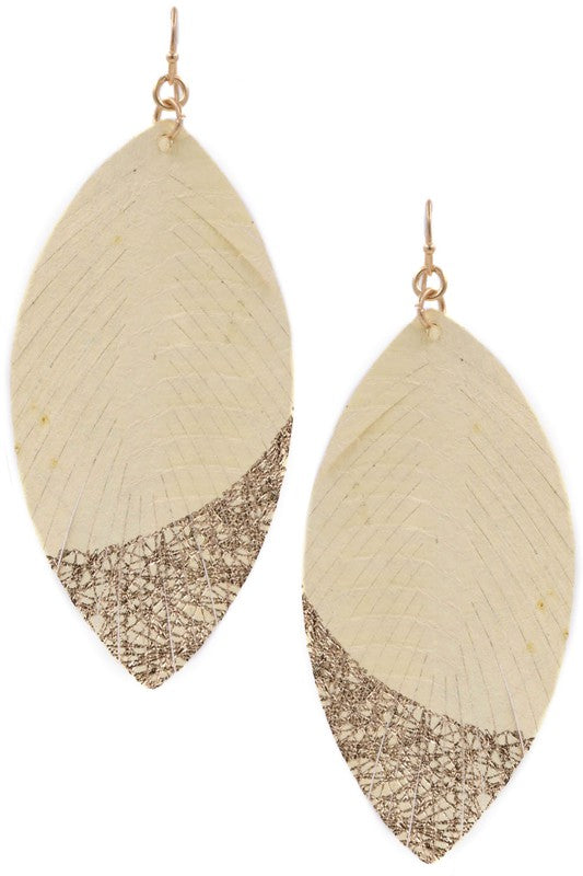 Bennett Feather Drop Earrings (2 Colors!) PREORDER