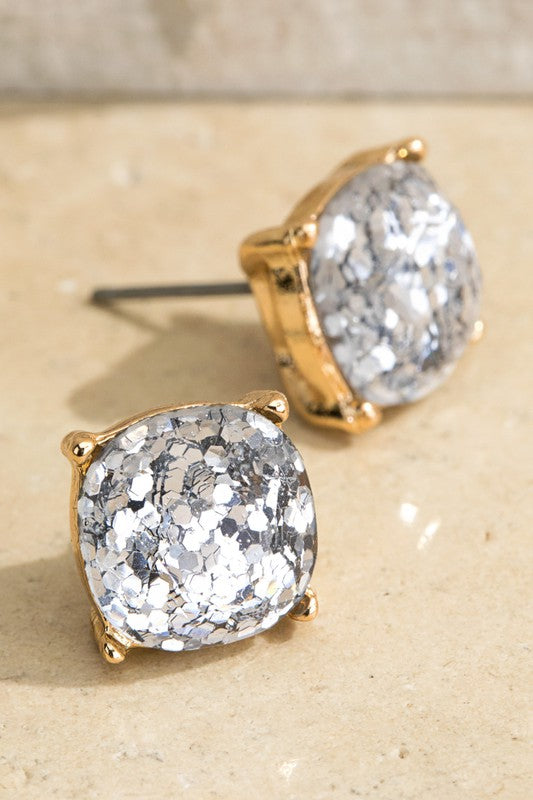 Glory Sparkle Stud Earrings (2 Colors)