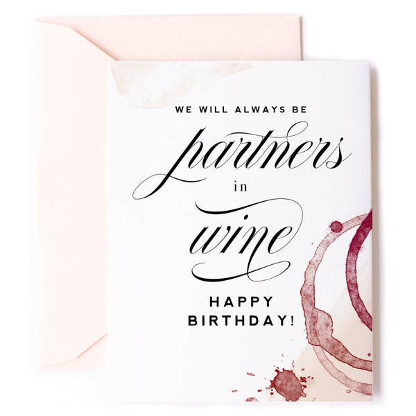 Partners In Wine Card