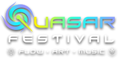 Quasar Festival Logo: Flow, Art, and Music