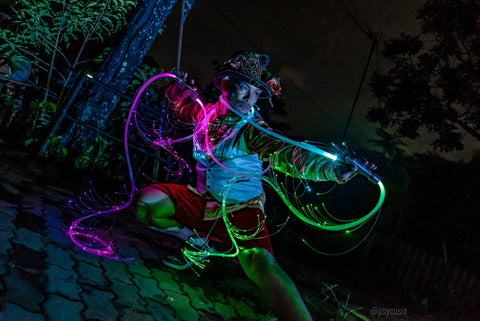 fiber optics for costumes - Psycusix LED performer