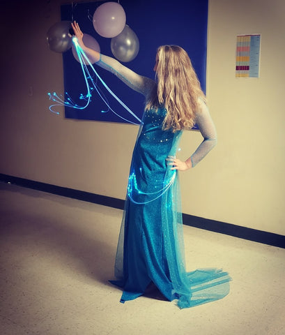 Elsa from Frozen costume, fiber optics dress - ashleyneptune