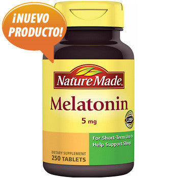 Melatonina pura y natural 5 mg - 250 tabletas de los Laboratorios Nature Made