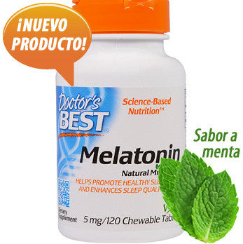 Melatonina 5 mg - melatonina para dormir - 120 tabletas a sabor menta de Doctor's Best