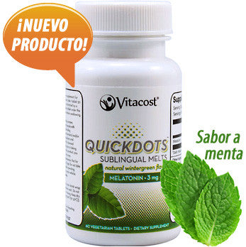 Melatonina sublingual 3 mg - sabor menta - 60 tabletas sublinguales de los Laboratórios Vitacost