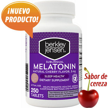 Melatonina 5 mg sublingual a sabor de cereza - 250 tabletas de Berkley Jensen