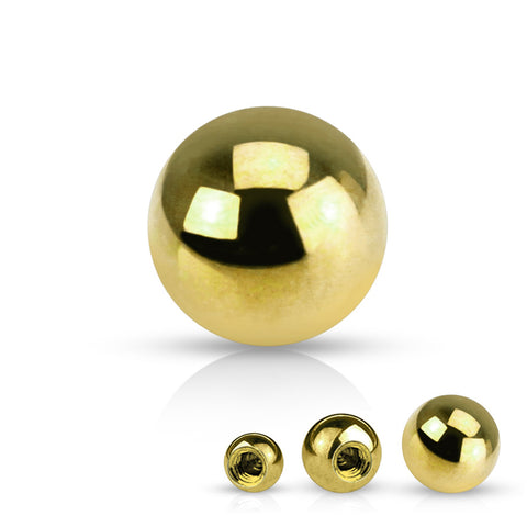 14g Yellow 14k Gold Ball