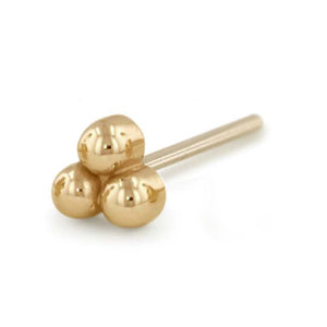 14k Gold 3-Ball End by NeoMetal