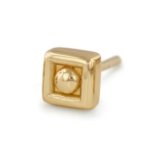14k Gold Square End by NeoMetal