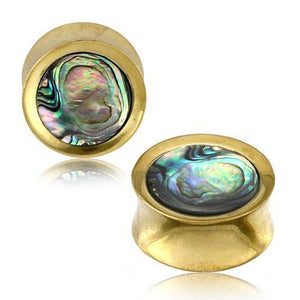 Abalone & Brass Plugs