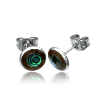 Coco Shell Abalone Stud Earrings