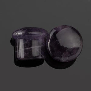 Amethyst Single Flare Plugs by Diablo Organics