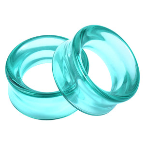 Double Flare Aqua Glass Tunnels
