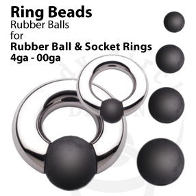Rubber Ball for Socket Rings by Body Circle Designs