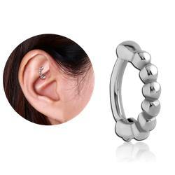 Stainless Beaded Cartilage Clicker