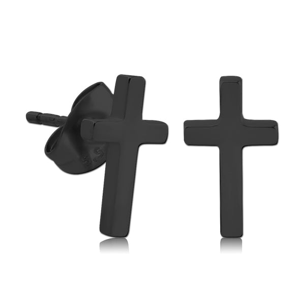 Blackline Cross Earrings