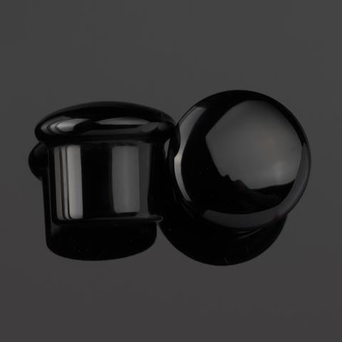 Black Obsidian Single Flare Plugs by Diablo Organics