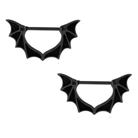 Blackline Bat Wing Nipple Clickers
