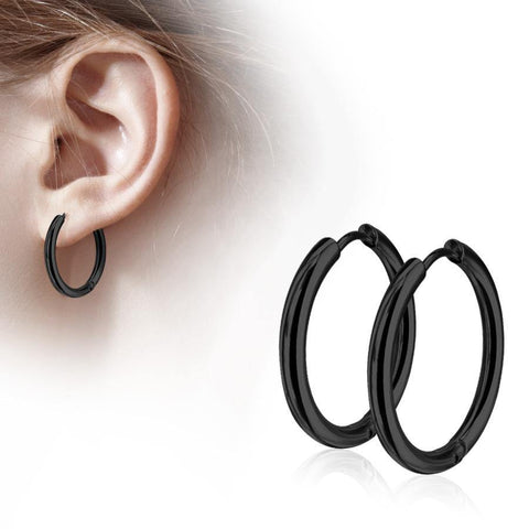 Blackline Clicker Hoop Earrings