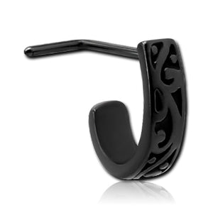 Blackline Filigree L-Bend Nose Hoop