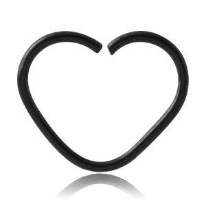 Blackline Heart Shaped Ring