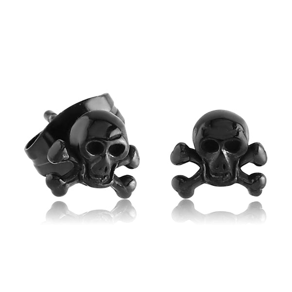 Blackline Skull & Crossbones Earrings