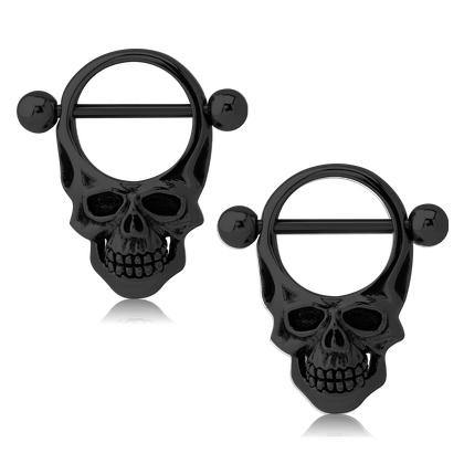 Blackline Skull Nipple Shields