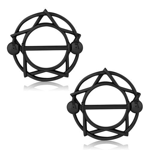 14g Blackline Star Nipple Shields