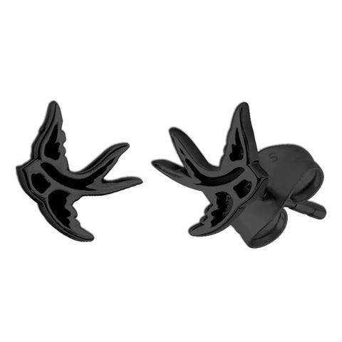 Blackline Swallow Earrings