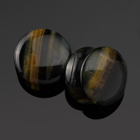 Blue Tigers Eye Plugs by Diablo Organics